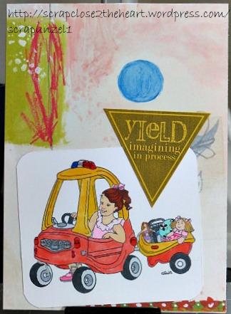 Girl On Trike - Stamp -N- Doodle