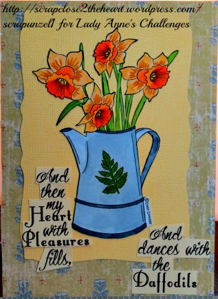 A Jug Full of Spring--Daisy Doodles--Lady Anne's Challenges