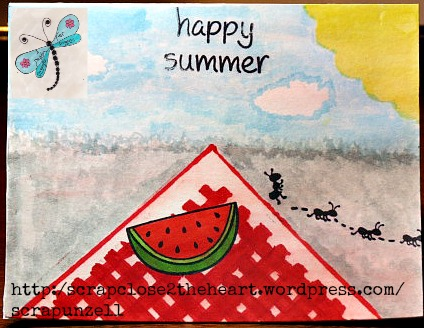 Happy Summer--LawnFawn--DragonflyDreamsPlayground
